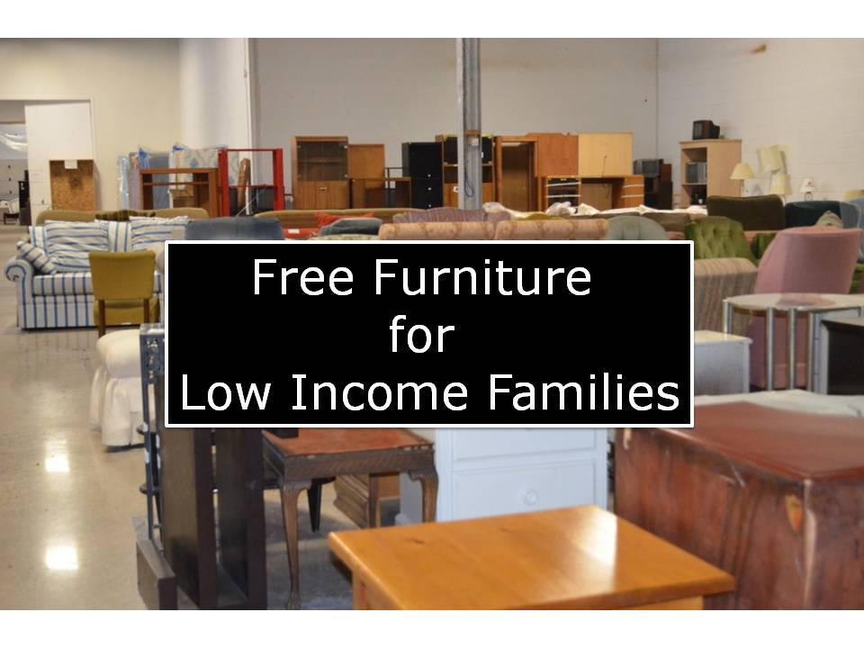 get free furniture for low income families