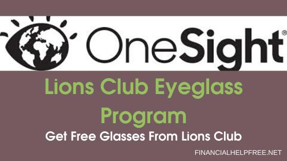Lions Club Eyeglass Program - free glasses from lions club